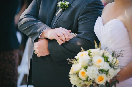 Father Of The Bride Holding Hands